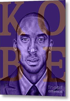 Kobe Bryant Lakers' Purple Metal Print