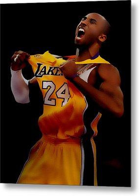 Kobe Bryant Sweet Victory Metal Print by Brian Reaves