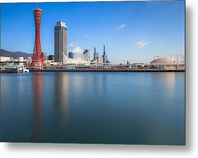 Kobe Port Island Tower Metal Print