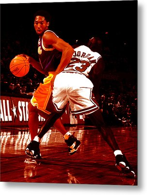 Kobe Spin Move Metal Print by Brian Reaves