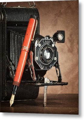 Kodak And Parker Still Life Metal Print by Tom Mc Nemar