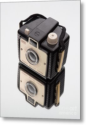 Kodak Brownie Bullet Camera Mirror Image Metal Print by Edward Fielding