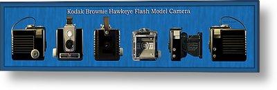 Kodak Brownie Hawkeye Camera Metal Print by Thomas Woolworth