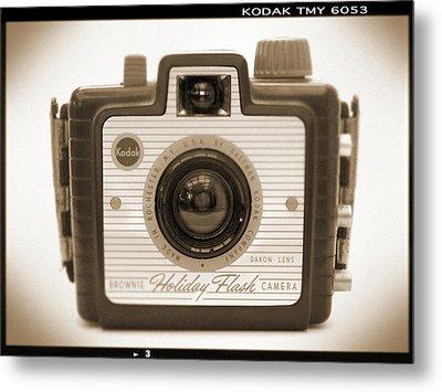 Kodak Brownie Holiday Flash Metal Print by Mike McGlothlen