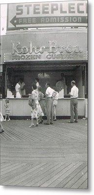 Kohr Bros Frozen Custard Atlantic City Nj Metal Print by Joann Renner