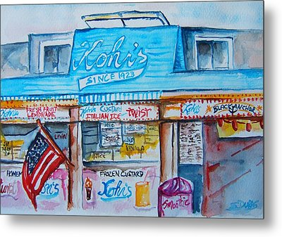 Kohrs Frozen Custard Metal Print