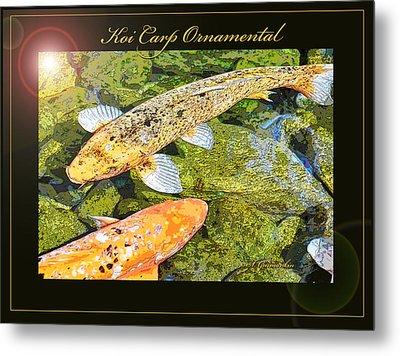 Koi Carp Goldfish Ornamental Framing Print Metal Print by A Gurmankin