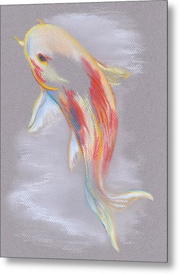 Metal Print featuring the pastel Koi Fish Swimming by MM Anderson