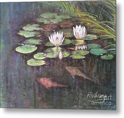 Koi Pond Metal Print by Rose Wang