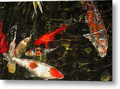 Koi Joy Metal Print by Suzy Piatt