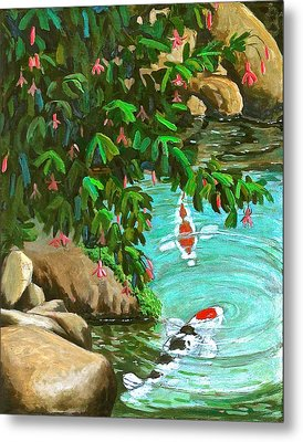 Koi Kingdom Metal Print by Dan Redmon
