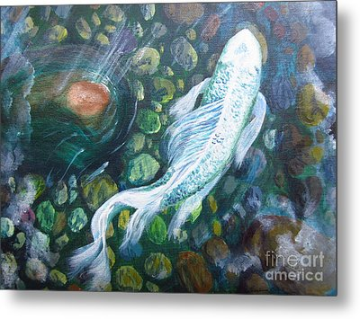 Koi Metal Print by Laurianna Taylor