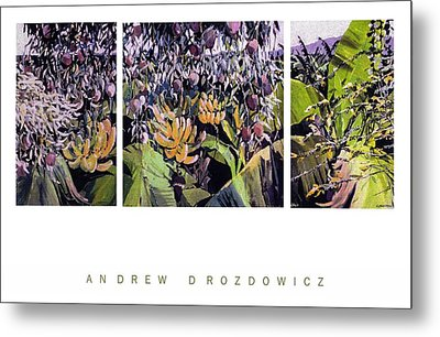 Metal Print featuring the painting Kona Garden by Andrew Drozdowicz