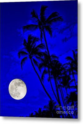 Kona Moon Rising Metal Print by David Lawson