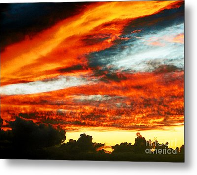 Metal Print featuring the photograph Kona Sunset 77 Lava In The Sky  by David Lawson