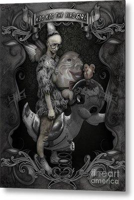 Koo Koo The Bird Girl Metal Print by Gregory Dyer