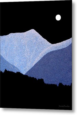 Metal Print featuring the painting Kootenay Mountains by Janice Dunbar