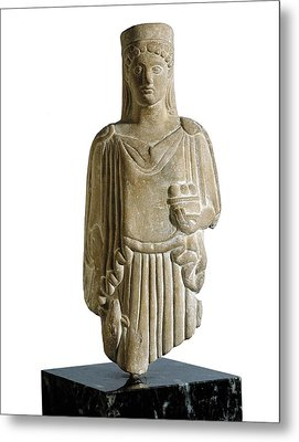 Kore. 6th C. Bc. Baked Clay. Archaic Metal Print by Everett