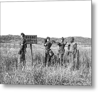 Korean Demarcation Line Metal Print