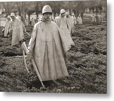 Korean War Memorial - Washington D.c. Metal Print by Mike McGlothlen