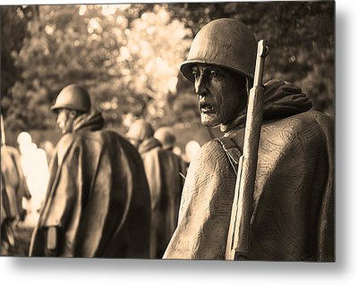 Korean War Soldier Metal Print