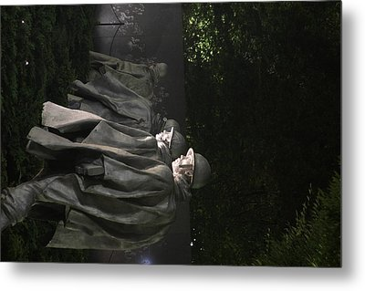 Korean War Veterans Memorial - Washington Dc - 01131 Metal Print
