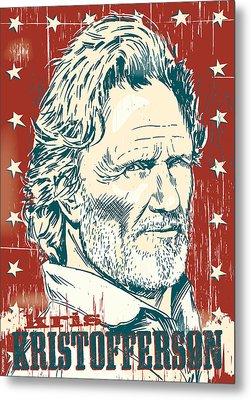 Kris Kristofferson Pop Art Metal Print