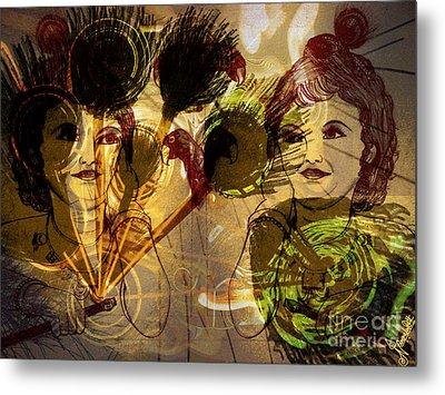 Krishna Abstract Art Metal Print by Artist Nandika  Dutt