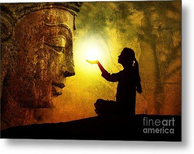 Krishna Devotion Metal Print by Tim Gainey