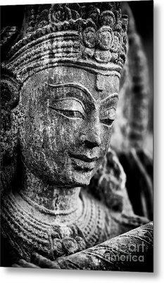 Krishna Monochrome Metal Print by Tim Gainey