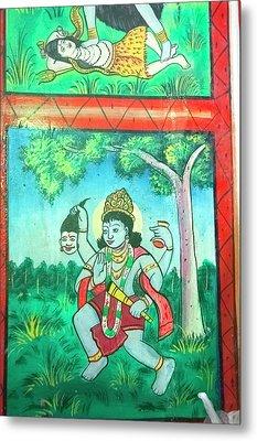 Krishna, Shree Laxmi Narihan Ji Hindu Metal Print by Inger Hogstrom