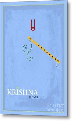 Krishna The Playful Metal Print