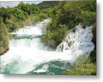 Krka Waterfalls Croatia Metal Print