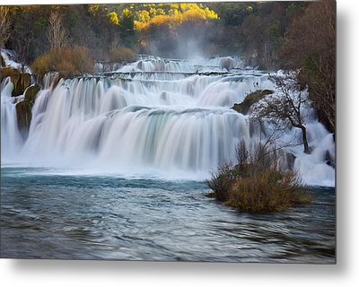 Krka Waterfalls Metal Print