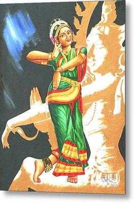 Metal Print featuring the painting Kuchipudi- The Dance Of The Gods by Ragunath Venkatraman
