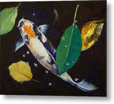 Kumonryu Koi Art Metal Print by Michael Creese