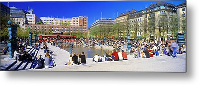 Kungstradgarden Park, Stockholm, Sweden Metal Print by Panoramic Images