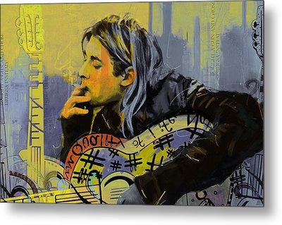 Kurt Cobain Metal Print by Corporate Art Task Force