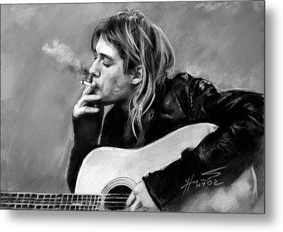 Kurt Cobain Guitar  Metal Print by Viola El