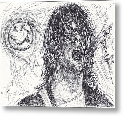 Kurt Cobain Metal Print by Michael Morgan