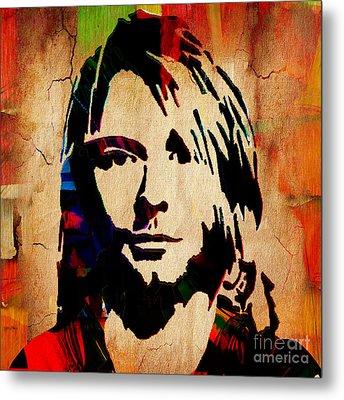 Kurt Cobain Nirvana Collection Metal Print by Marvin Blaine