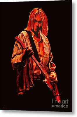 Kurt Cobain Painting Metal Print by Paul Meijering