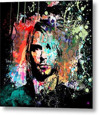 Kurt Cobain Portrait Metal Print by Gary Grayson