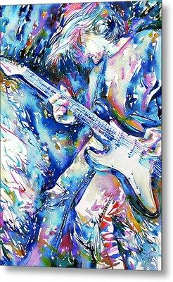 Kurt Cobain Portrait.3 Metal Print by Fabrizio Cassetta