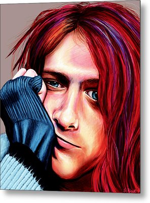 Kurt Cobain Metal Print by Shawna Rowe