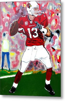 Kurt Warner-in The Zone Metal Print
