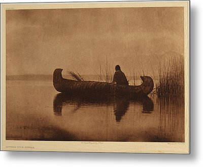 Kutenai Indian Duck Scene Metal Print
