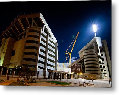 Kyle Field Construction Metal Print by Linda Unger