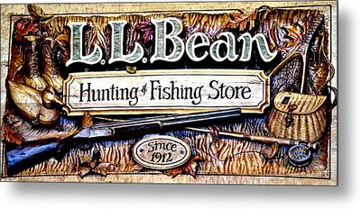 L. L. Bean Hunting And Fishing Store Since 1912 Metal Print by Tara Potts