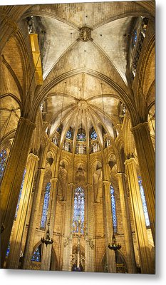 La Catedral Barcelona Cathedral Metal Print by Matthias Hauser